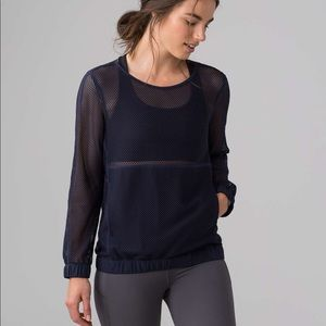 Lululemon Mesh On Mesh POP Over Top midnight Navy